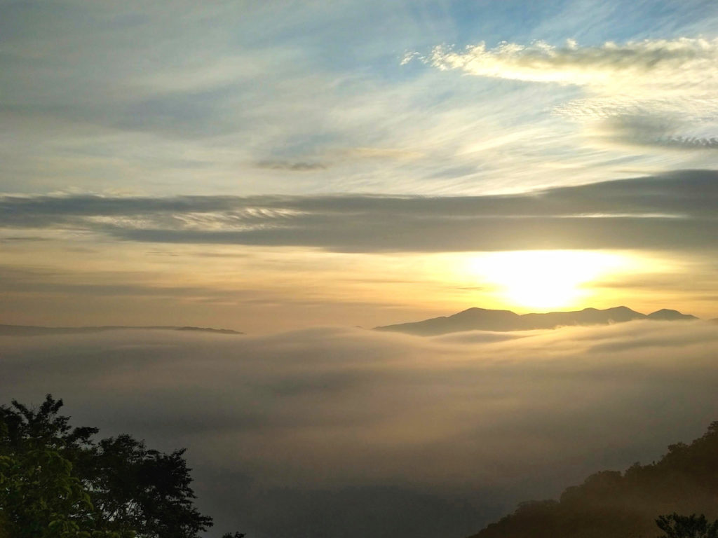 早朝の魔法の雲海